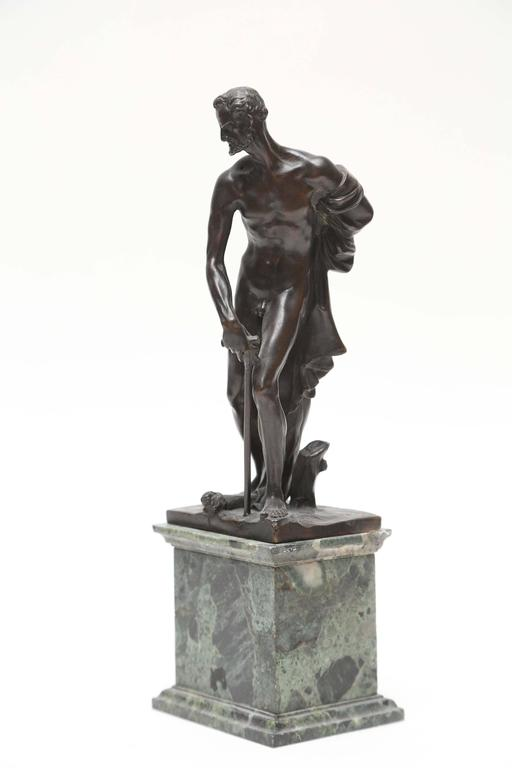 Bronze statuette of St. Jerome, or St Hieronymous, in the manner of the Venetian sculptor Alessandro Vittorio (1525-1608) by the lost wax technique of bronze casting, which leaves a hollow core. The Viennese art scholar Leo Planiscig had attributed