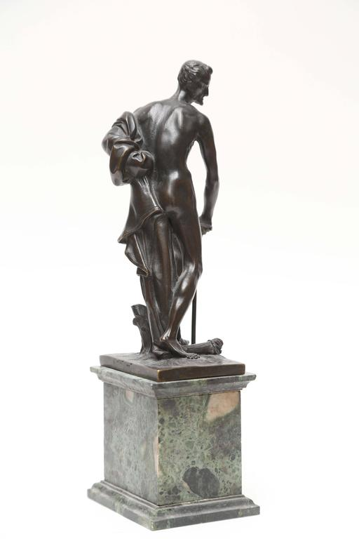 Cast Venetian Bronze Statuette of St. Jerome, 17th-18th Century For Sale