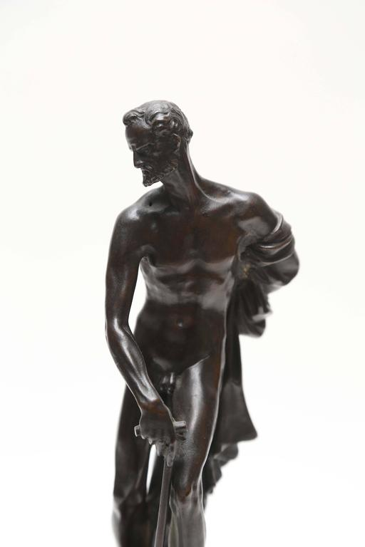 Venetian Bronze Statuette of St. Jerome, 17th-18th Century In Good Condition For Sale In Kensington, MD