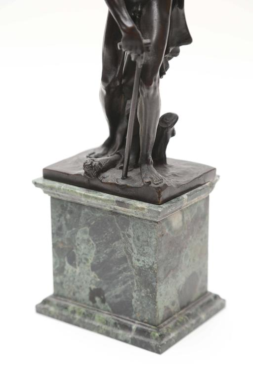 18th Century and Earlier Venetian Bronze Statuette of St. Jerome, 17th-18th Century For Sale