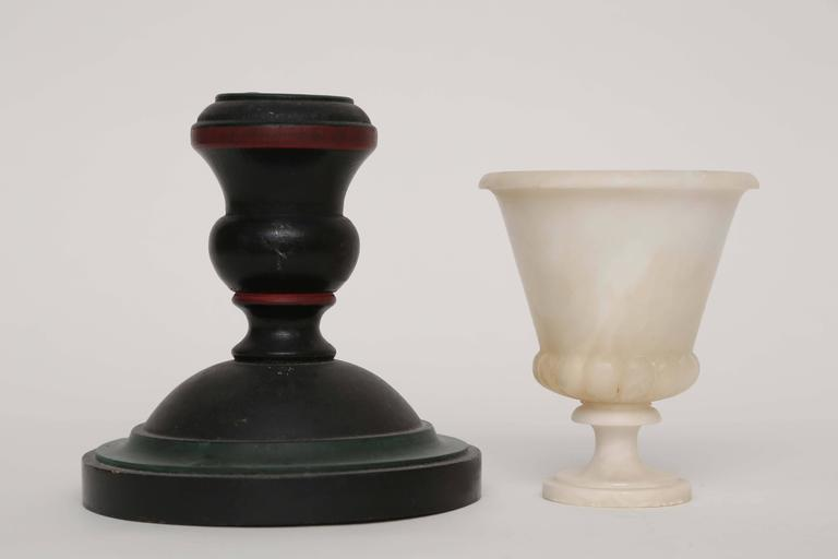Group of Treens, Candlestick and Alabaster Cup, 19th-20th Century 6