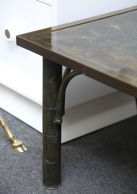 Bronze Fine LaVerne Zodiac Cocktail Table For Sale
