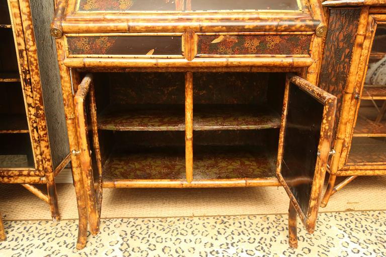 Superb 19th Century English Bamboo Secretary Bookcase 4