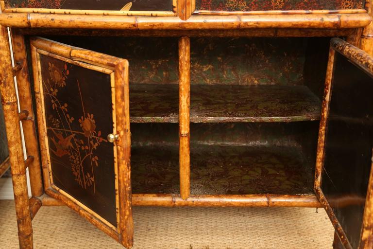Superb 19th Century English Bamboo Secretary Bookcase 5