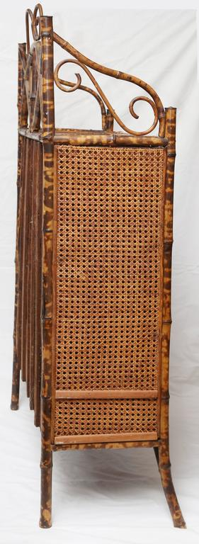 19th Century English Bamboo Cabinet or Bookcase For Sale 6