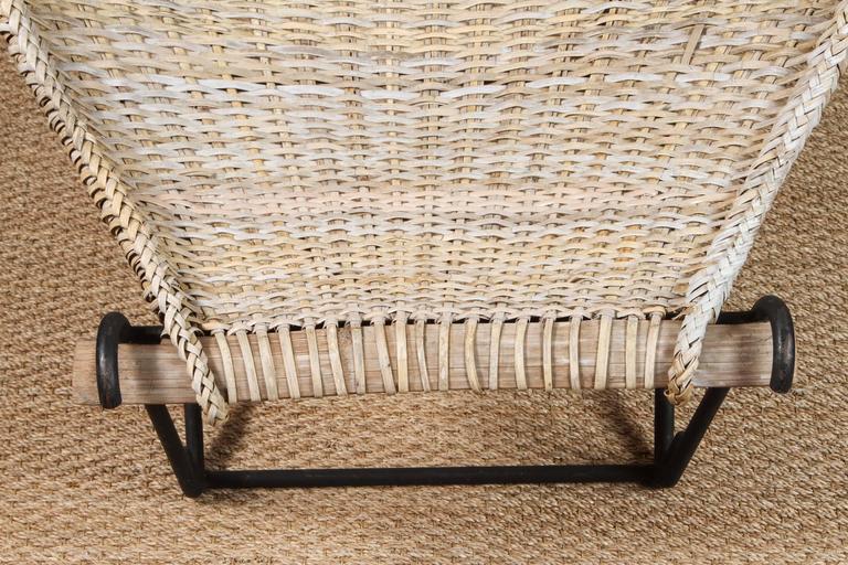 Hand-Woven John Risley Rattan Dunyan Lounge Chair For Sale