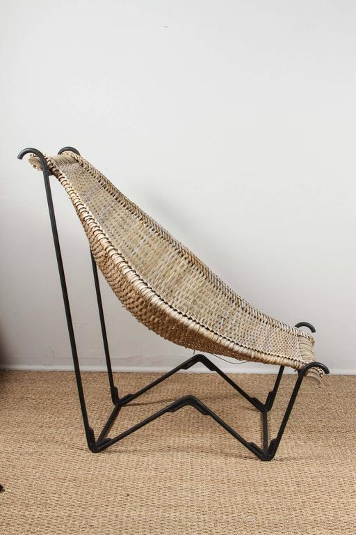 John Risley Rattan Dunyan Lounge Chair In Good Condition For Sale In Los Angeles, CA
