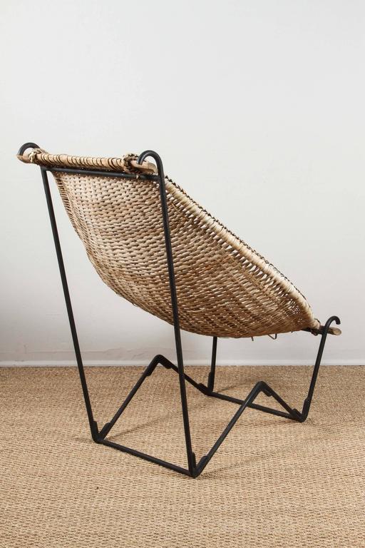 20th Century John Risley Rattan Dunyan Lounge Chair For Sale