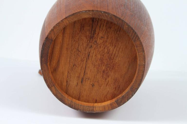 Vintage Teak Ice Bucket Designed by Jens Quistgaard In Excellent Condition For Sale In Los Angeles, CA