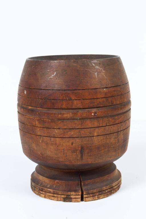 Tribal Wooden African Mortar and Pestle For Sale