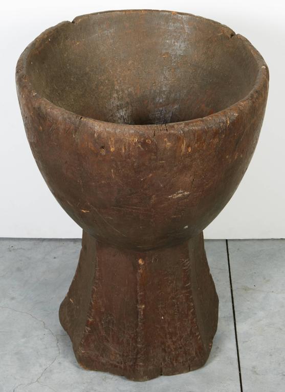 Tall Teak Mortar For Sale 1