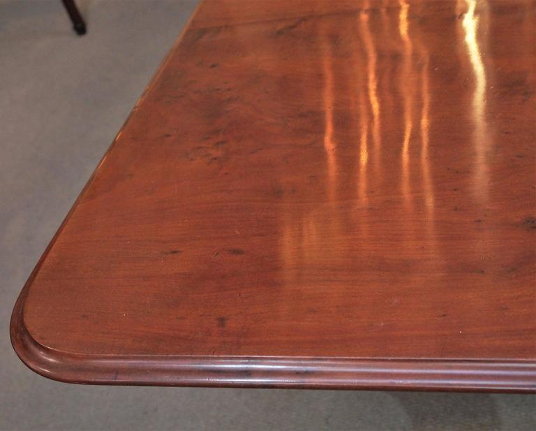 George III Antique English Mahogany Dining Table For Sale