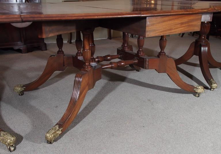 Italian Antique English Mahogany Dining Table For Sale