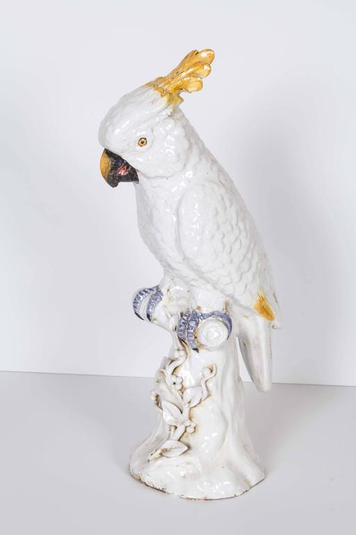 Meissen Style Porcelain Model of a Cockatoo 6