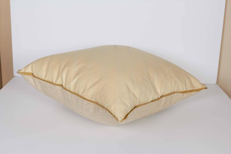 Contemporary A Fortuny Fabric Cushion in the Jupon Pattern For Sale
