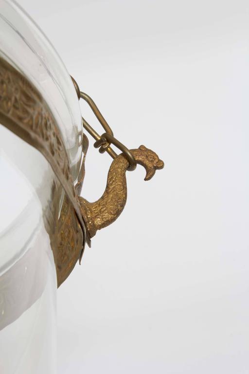 Pair of George III Style Brass Hall Lanterns 4