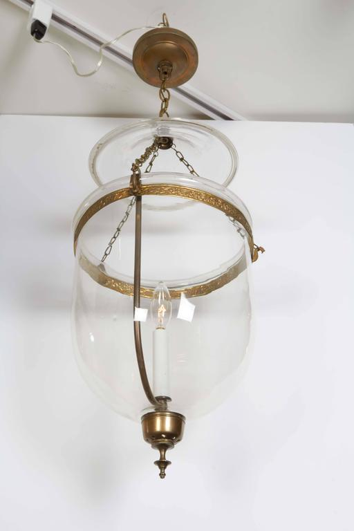 Pair of George III Style Brass Hall Lanterns For Sale 1
