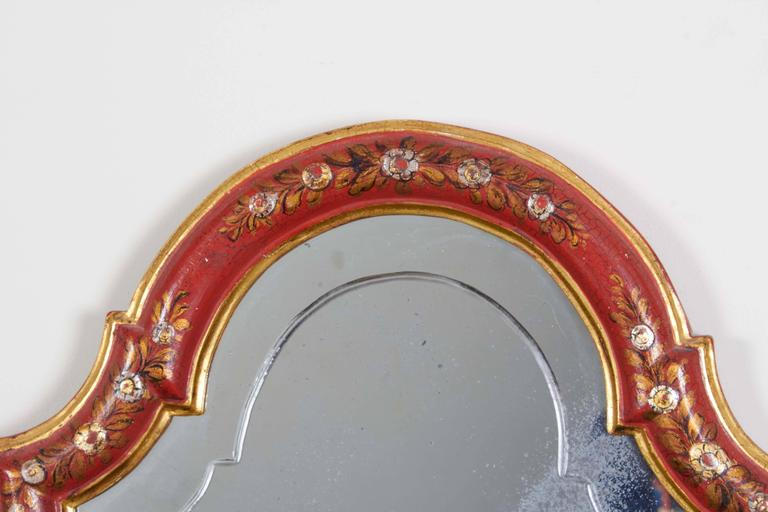 Painted Set of Four Italian Chinoiserie-Decorated Two-Light Wall Appliques For Sale