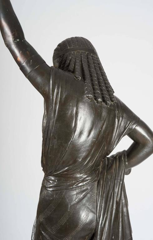 French Bronze Egyptian Female Figure With Light At 1stdibs