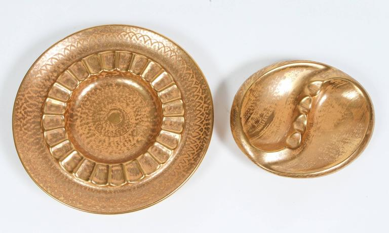 Set of two large vintage ashtrays or vide poches.