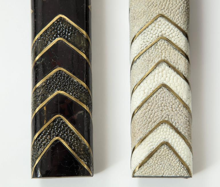 Hand-Crafted Shagreen Lighters For Sale