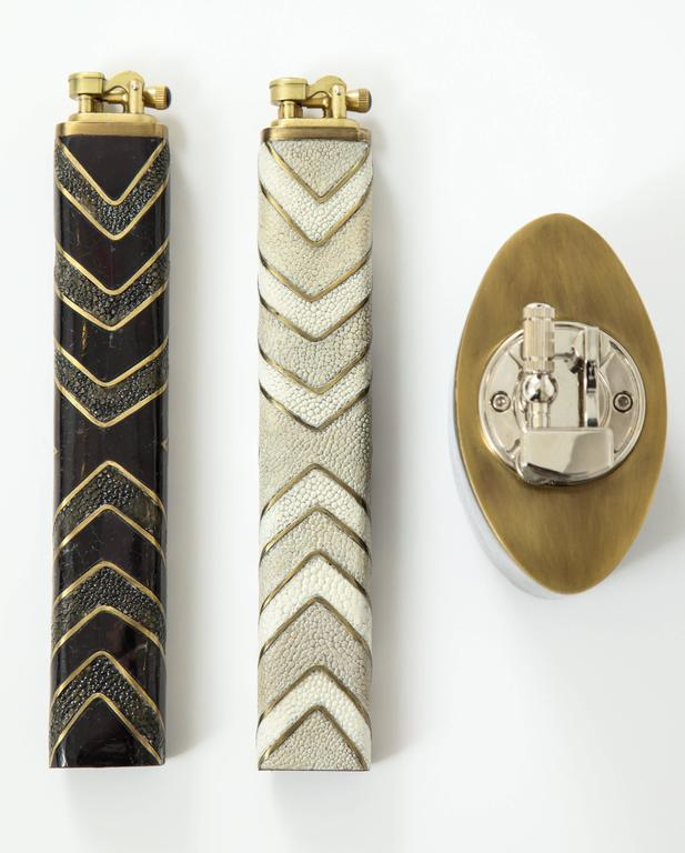 Contemporary Shagreen Lighters For Sale