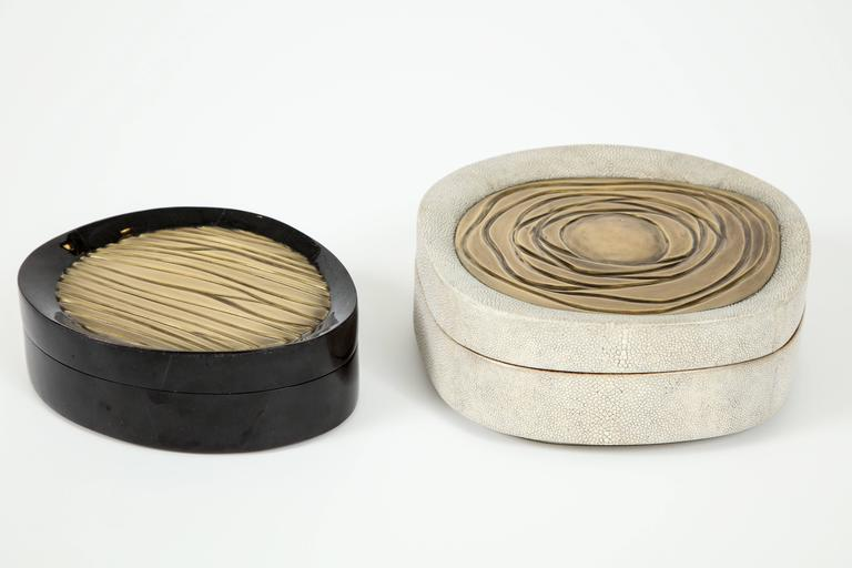 Contemporary Shagreen Box and Seashell Box, France, Offered by Area ID For Sale