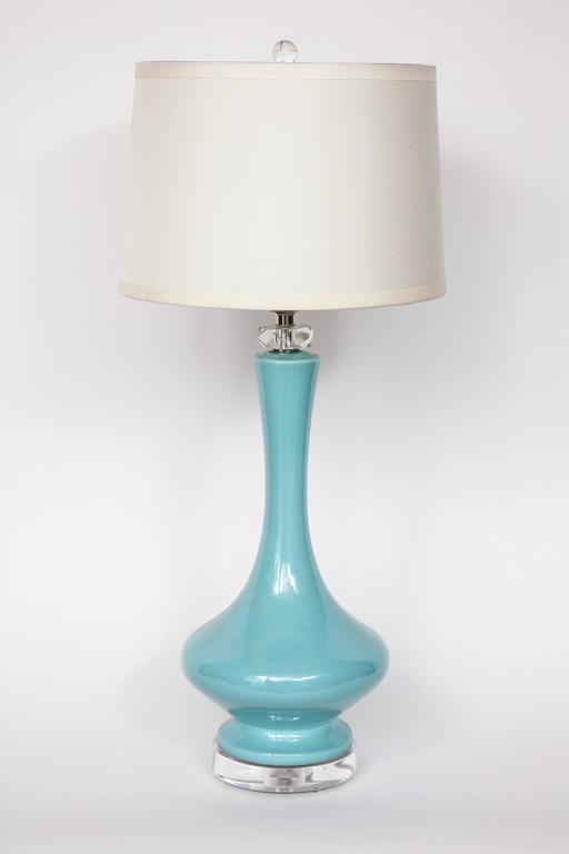 Robin's Egg Blue Ceramic Lamps 5