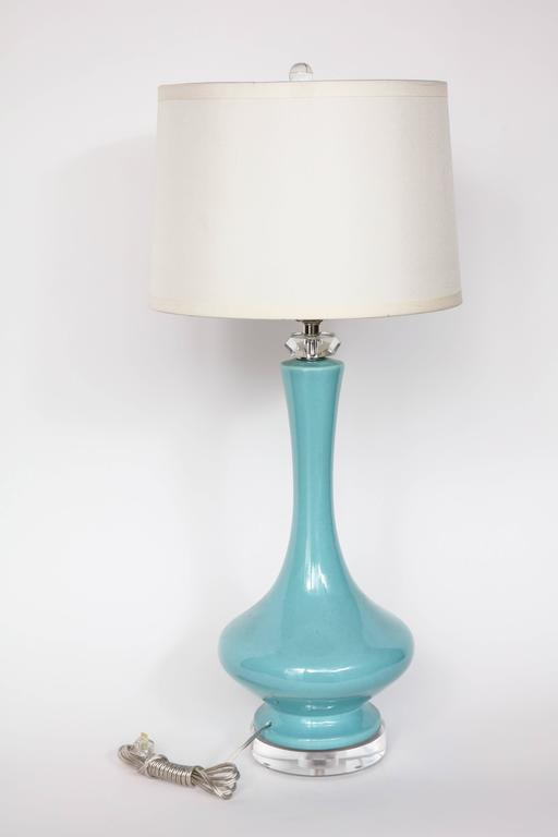 Robin's Egg Blue Ceramic Lamps 6