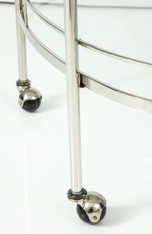 Art Deco Polished Nickel Bar Cart 6