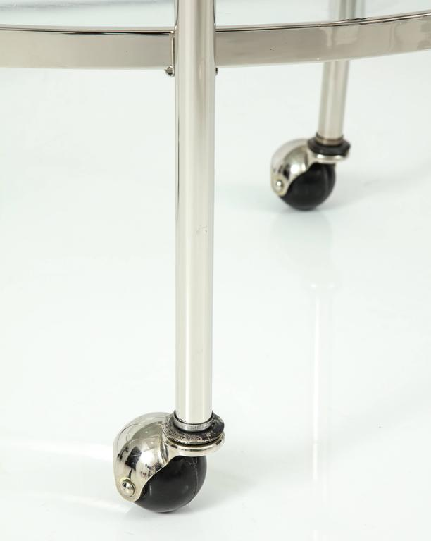 Art Deco Polished Nickel Bar Cart 7