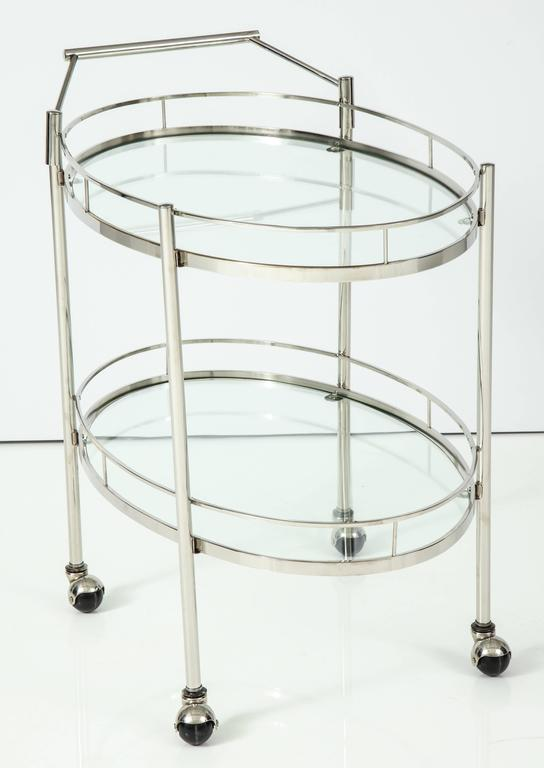Art Deco Polished Nickel Bar Cart 8