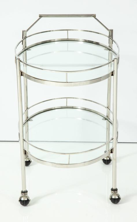 Art Deco Polished Nickel Bar Cart 9