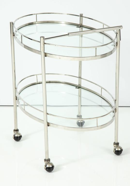 Art Deco Polished Nickel Bar Cart 10