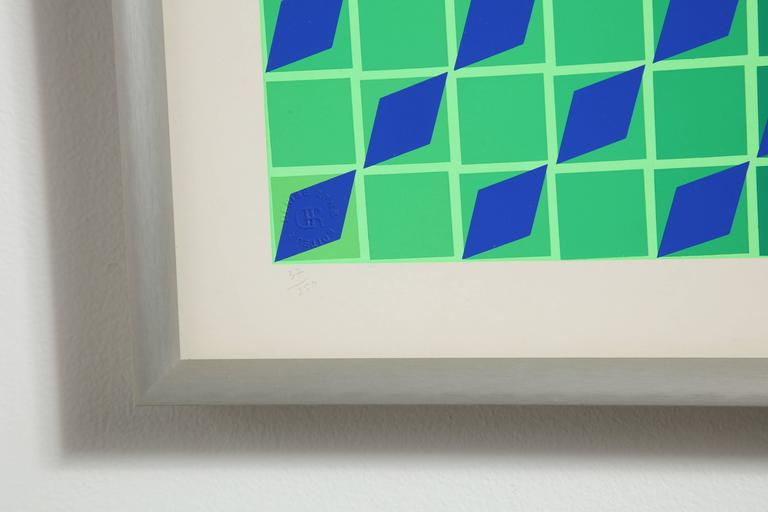 20th Century Victor Vasarely Op Art Framed Serigraph For Sale