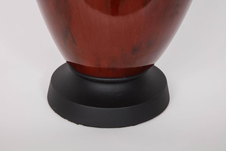 Italian Mid-Century Bloodstone Glazed Lamps For Sale 1