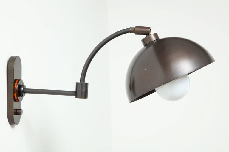 1940s Austrian Dark Bronze Wall Lights 2