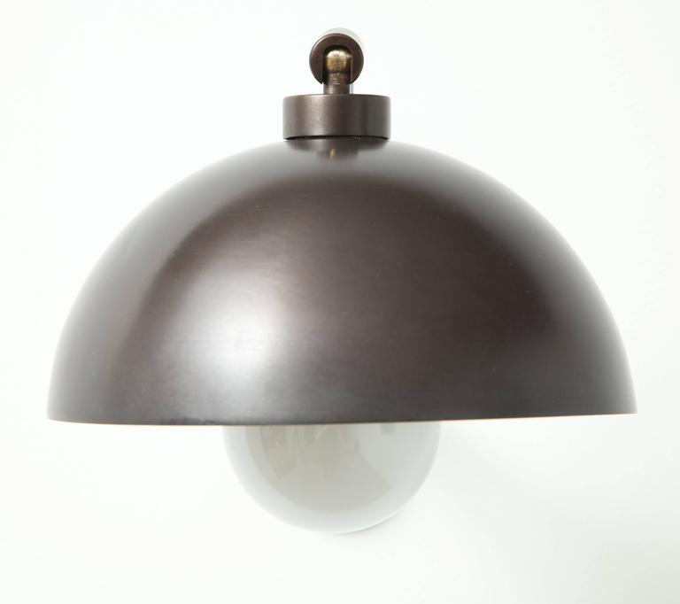 1940s Austrian Dark Bronze Wall Lights 7