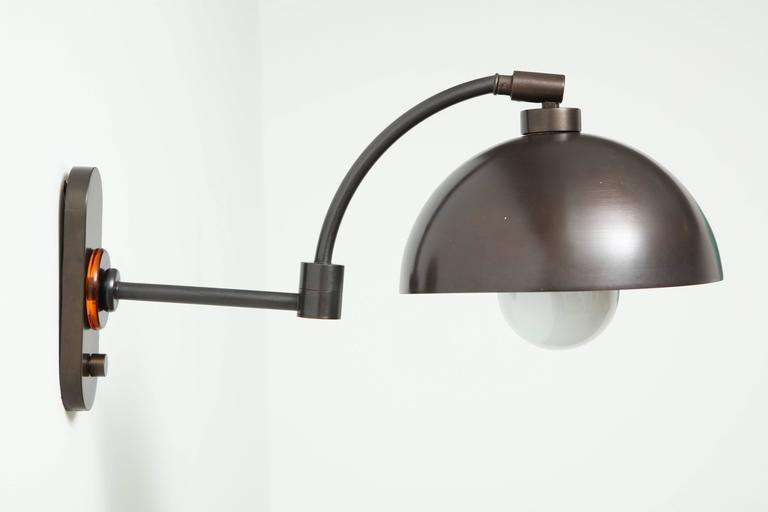 1940s Austrian Dark Bronze Wall Lights 9