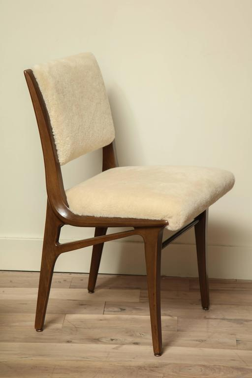 Pair of Shearling Dining Chairs 2
