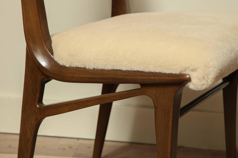 Pair of Shearling Dining Chairs 3