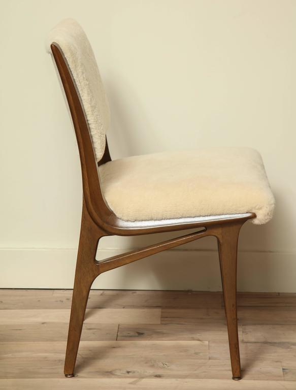 Pair of Shearling Dining Chairs 4