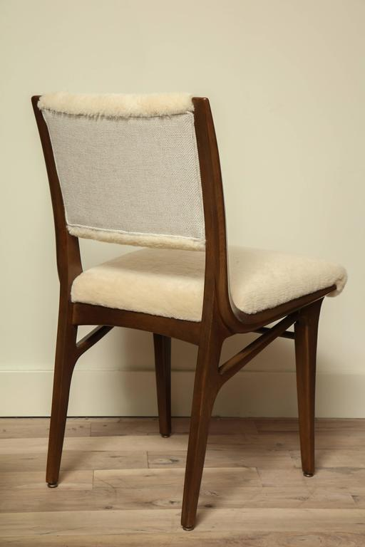 Pair of Shearling Dining Chairs 5