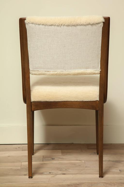 Pair of Shearling Dining Chairs 6