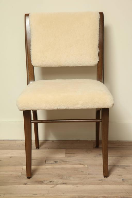 Pair of Shearling Dining Chairs 7