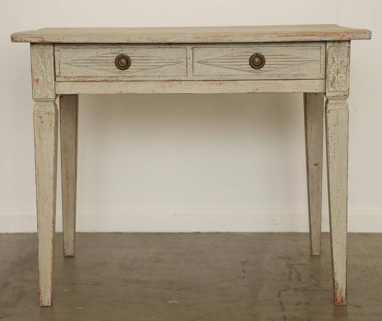 antique swedish gustavian painted writing desk mid19th century 2