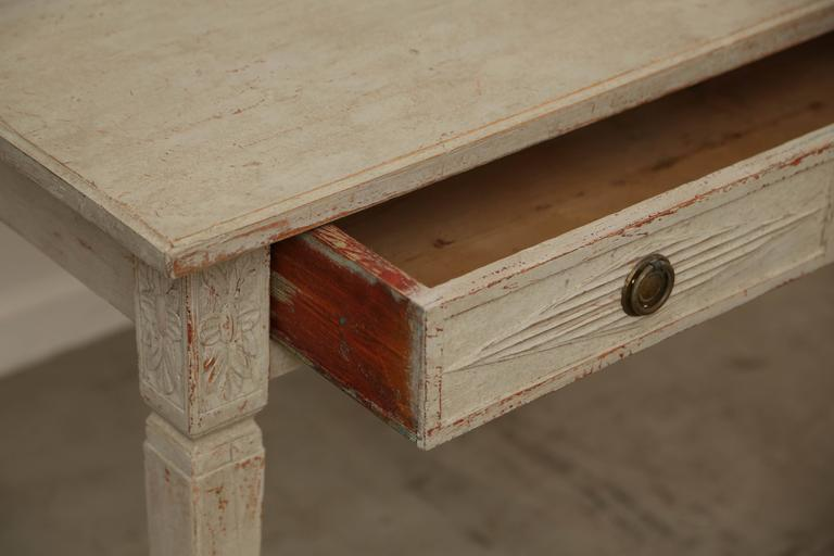 Antique Swedish Gustavian Painted Writing Desk Mid 19th