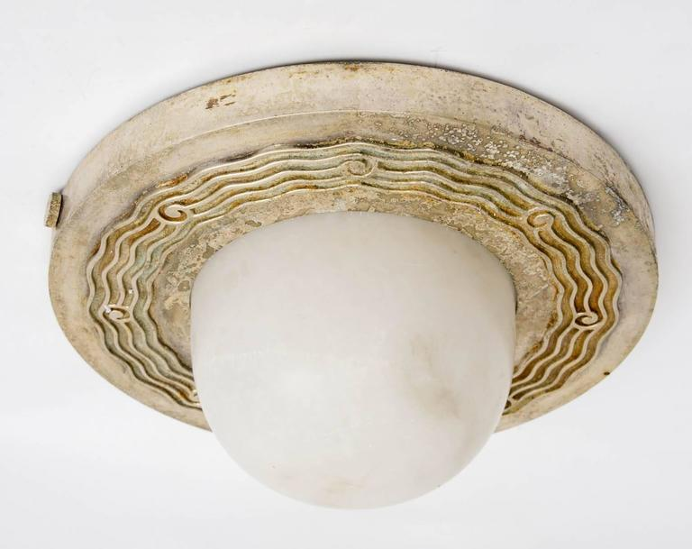 Genet & Michon Pair of French Art Deco Ceiling Lights, circa 1930 5