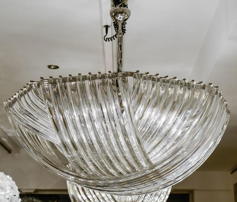 Gorgeous Murano Curved Crystal Chandelier 2