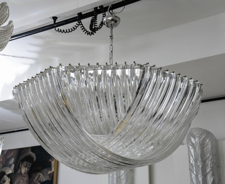 Gorgeous Murano Curved Crystal Chandelier 4